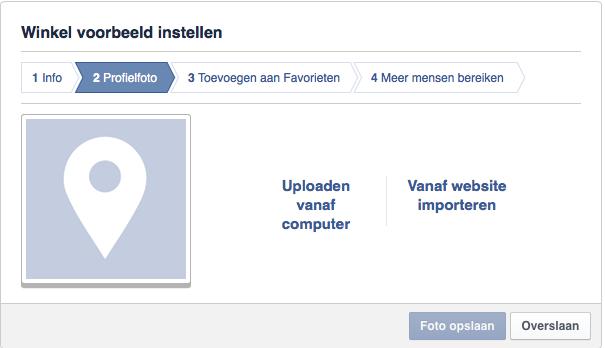 Facebook pagina aanmaken stap 3