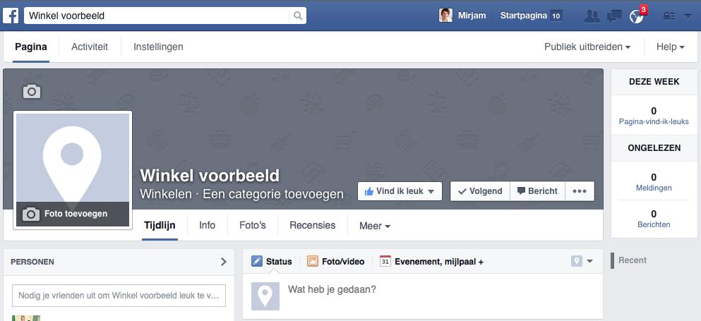 Facebook pagina aanmaken stap 6