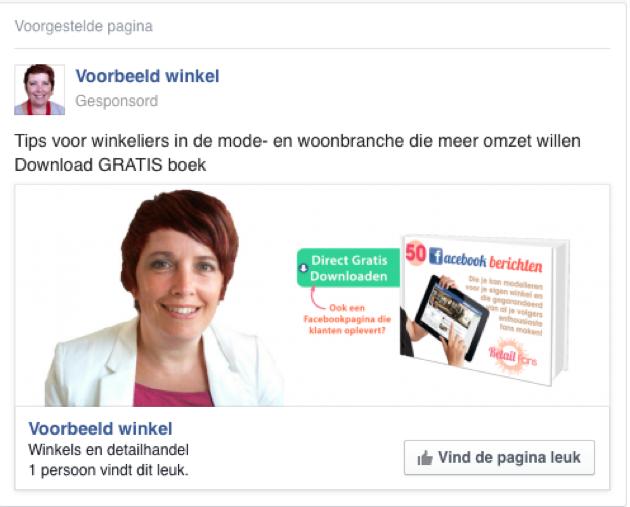Stap 12 Facebook pagina te promoten in een advertentie