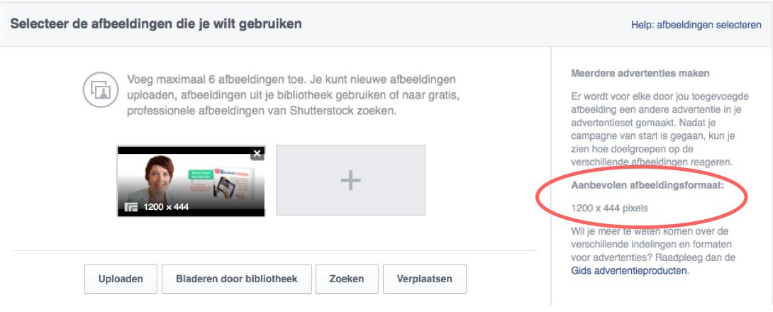 Stap 7 Facebook pagina te promoten in een advertentie
