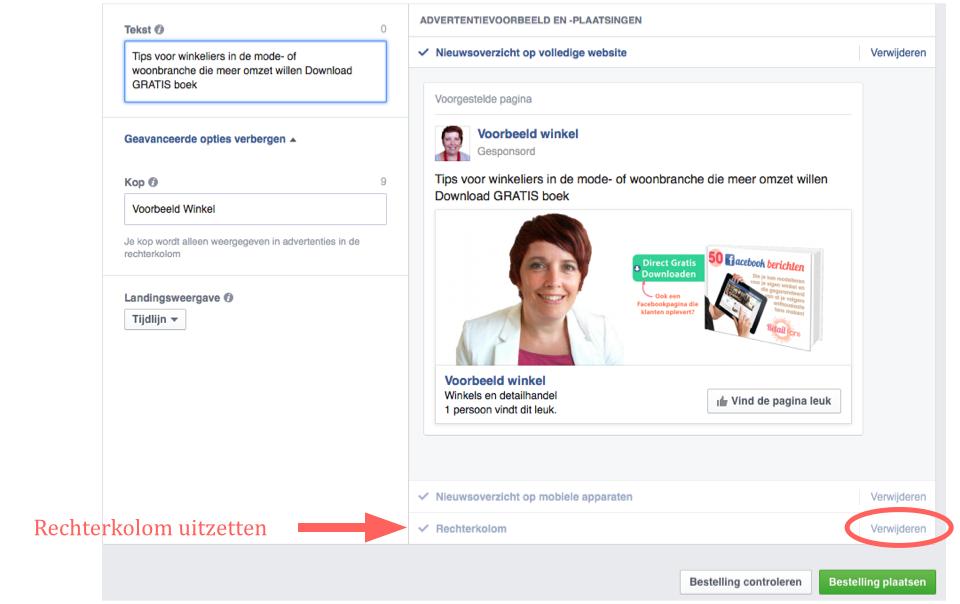 Stap 8 Facebook pagina te promoten in een advertentie