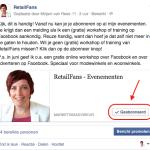 automatische melding Facebook evenementen