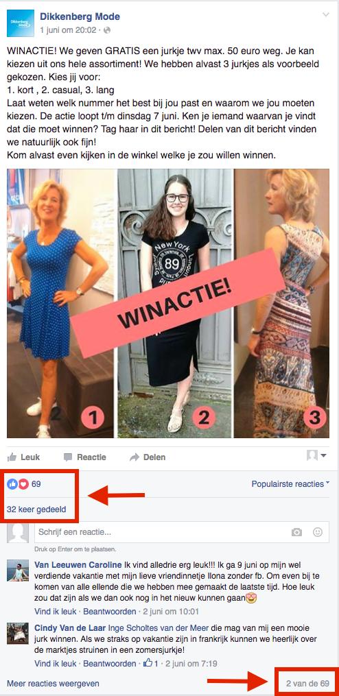 Dikkenberg Mode Winactie Facebook